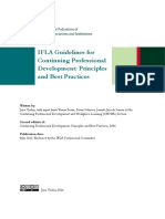 Ifla Guidelines for Continuing Professional Development