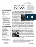 Summer 2007 Valley Trust Newsletter, Three Valley Conservation Trust