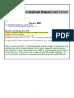 NSRF August 2010 Newsletter