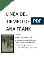 Linea Del Tiempo de Ana Frank