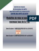 Modalites d'Application Des Nouveaux Taux de Tva v2 Maj