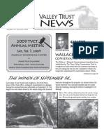 Fall 2008 Valley Trust Newsletter, Three Valley Conservation Trust