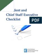 President Chief Staff Checklist Booklet 2017-09-06