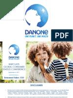 Danone BN DANOY Sept 2017 investor presentation