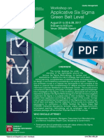 Applicative Six Sigma - Green Belt Level (Quality Management)
