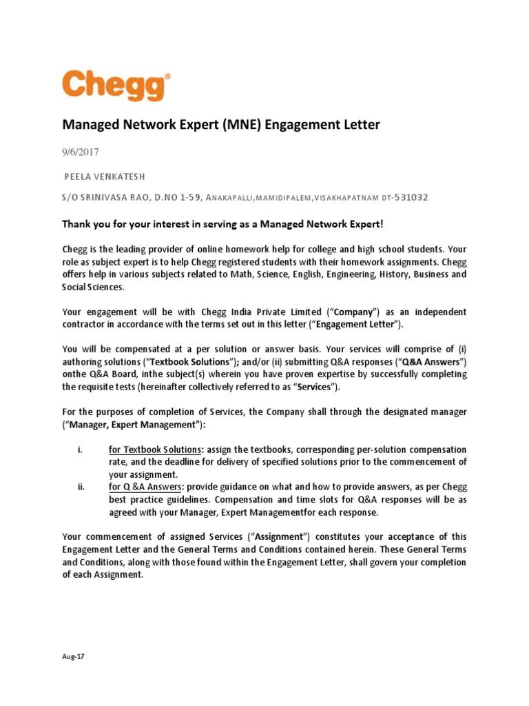 Expert Engagement Letter