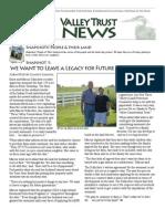 Summer 2010 Valley Trust Newsletter, Three Valley Conservation Trust
