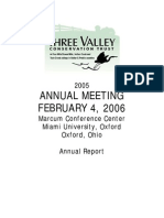 2005 Annual Report Three Valley Conservation Trust