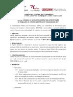 Edital de Auxilio Financeiro Para Apresentacao de Trabalhos 2017