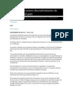 Anuncian Un Nuevo Descubrimiento de Petróleo en El País