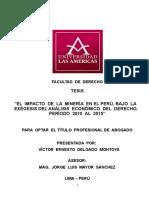 Tesis El Impacto de La Mineria en El Peru