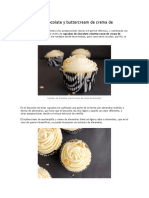 Cupcakes de Chocolate y Buttercream de Crema de Almendras