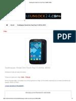 Desbloquear Alcatel One Touch Pop C3 4033A, 4033X