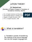 Theory of Translation