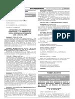 (33) LEY Nº 30655 - Ley Que Declara Héroes de La Democracia a Los Miembros Del Grupo Especial de Inteligencia GEIN-DIRCOTE - PNP