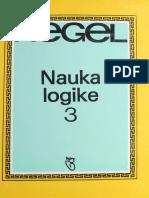Hegel - Nauka Logike 3