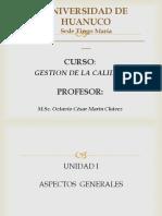 Curso Gestion Calidad Ciclo 2016-i