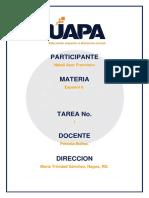 Tarea i Español II