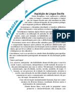 Livro Proprietário - Aquisição Da Língua Escrita