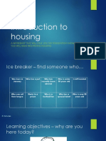 Introduction to Housing Workshop