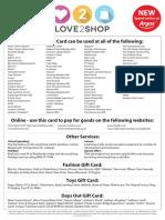 Love 2 Shop Coupon