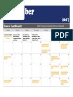 September 2017 Events that Benefit Calendar!