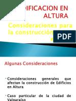 4.- Edificación en Altura Consider