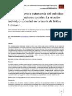 Antihumanismo o Autonomia Del Individuo Ante Las Estructuras Sociales