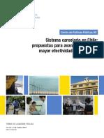 Artículo Sistema Carcelario en Chile