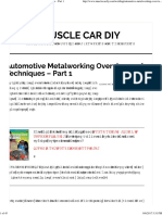 Automotive Metalworking Overview and Techniques - Part 1