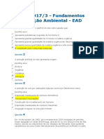 AVC 1- 2017.3 - Fundamentos Da Poluição Ambiental - EAD