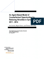 An Agent-Based Model of Counterfactual Opportunities for Reducing Atrocities in Syria, 2011 - 2014