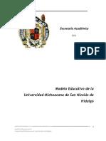 Modelo Educativo de La UMSNH