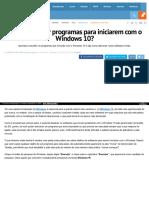 Https Www Oficinadanet Com Br Post 16229 Como Adicionar Programas Para Iniciarem Com o Windows 10
