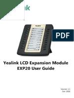 Yealink EXP20 User Guide V1.1