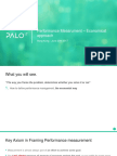 Performance Measurement Microeconomics Approach
