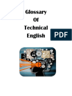 Glossary Technical English