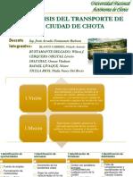 El Análisis Del Transito Urbano de La Ciudad de Chota