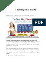 dieta de 3 semanas pdf gratis