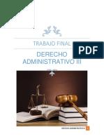 Trabajo Final Derecho Admionistrativo III
