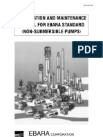 Installation and Maintenance Manual (Ebara Non-Submersible Pump)