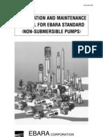 Installation and Maintenance Manual (Ebara Non-Submersible Pump)