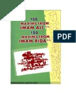 100 Maxims Form Imam Ali (a.s) & Imam Ali Bin Musa Al-rida (a.s)