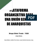 Plataforma Organizativa Para Una Unión General de Anarquistas