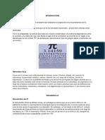 Investigación de Pi. (Fundamentos de matematicas)
