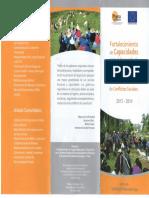 Projecto Fortalecimiento de Capacidades Para El Desarrollo de Un Sistema Regional Descentralizado de Diálogo y Prevención de Conflictos Sociales 2013 - 2014(1)