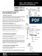 Howard Miller Clock Manual
