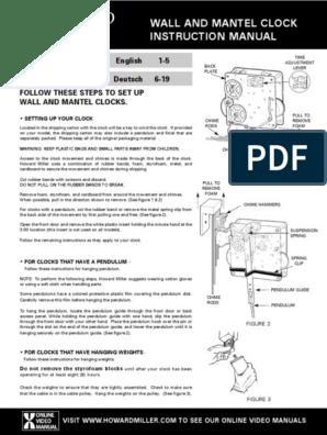 howard miller clock repair manual