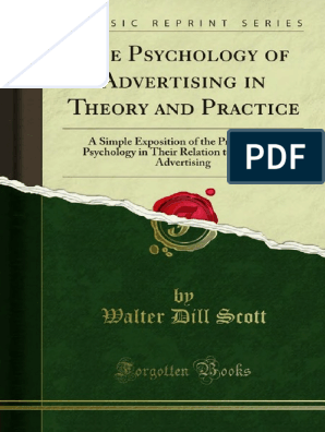The Psychology Of Advertising In Theory And Practice 1000044493 Psychology Advertising