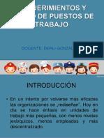 Requerimientos y Diseños de Puestos de Trabajo